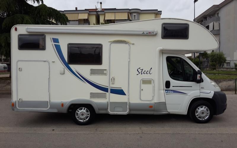 MC LOUIS STEEL 435G ANNO 2008  su Fiat Ducato cc 2200